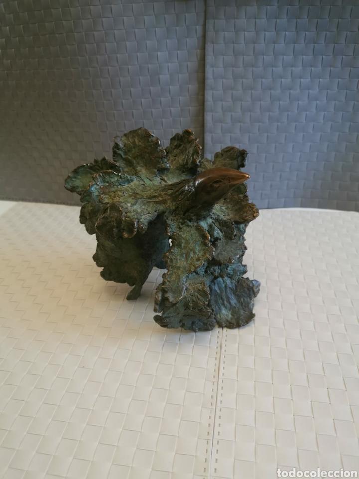 Arte: Fantastica escultura en bronce diseño pajaro firmado tablada - Foto 7 - 195008565