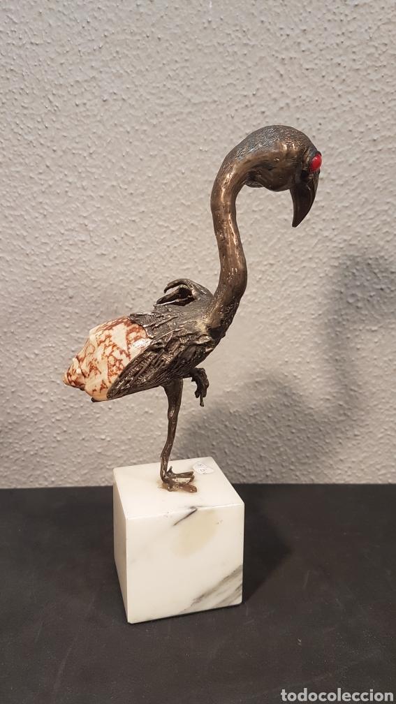 Arte: Escultura de Aurelio Teno. Cordoba (1927-2013). Ave en bronce . - Foto 4 - 195009431