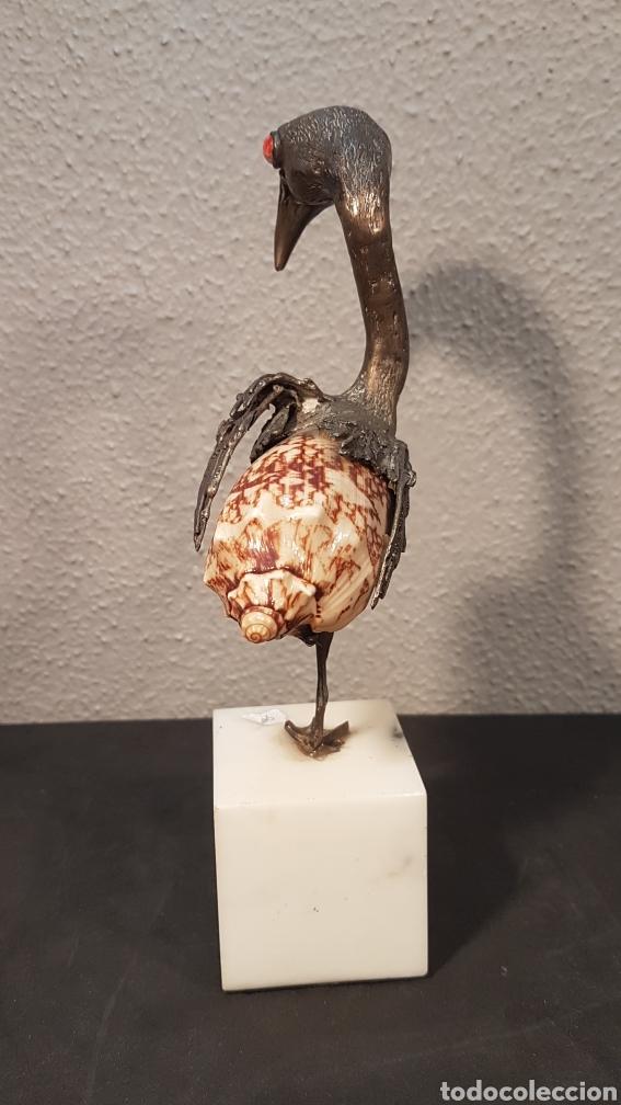 Arte: Escultura de Aurelio Teno. Cordoba (1927-2013). Ave en bronce . - Foto 5 - 195009431