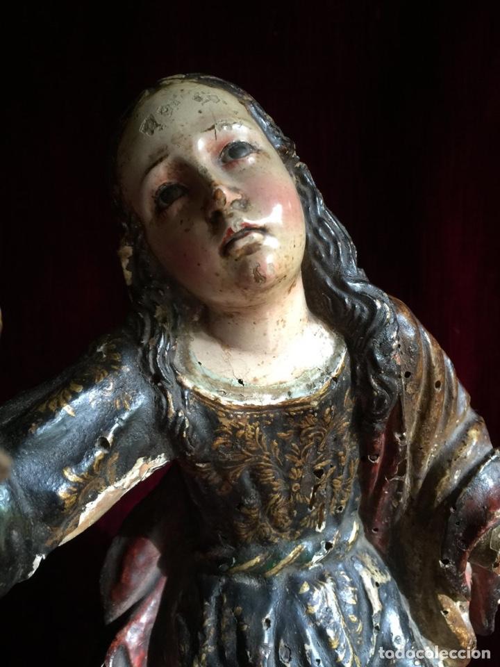 Arte: Tallas coloniales. Arte virreinato. Siglo XVIII. Calvario. Chili Caspicara. - Foto 3 - 195058807