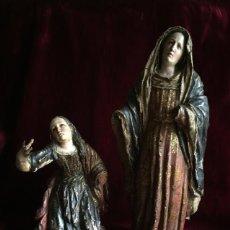 Arte: TALLAS COLONIALES. ARTE VIRREINATO. SIGLO XVIII. CALVARIO. CHILI CASPICARA.. Lote 195058807