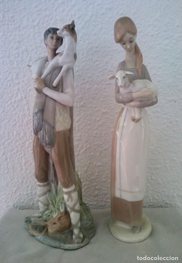 LOTE FIGURAS PORCELANA PASTORES NAO LLADRÓ (Arte - Escultura - Porcelana)