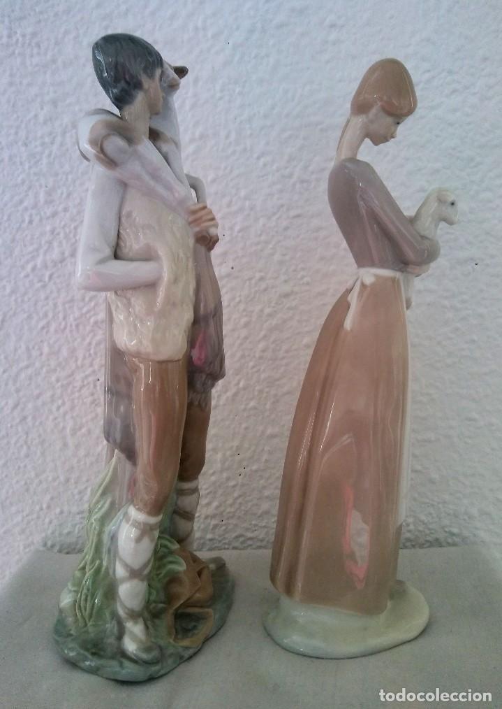 Arte: Lote Figuras porcelana pastores Nao LLadró - Foto 2 - 195088366