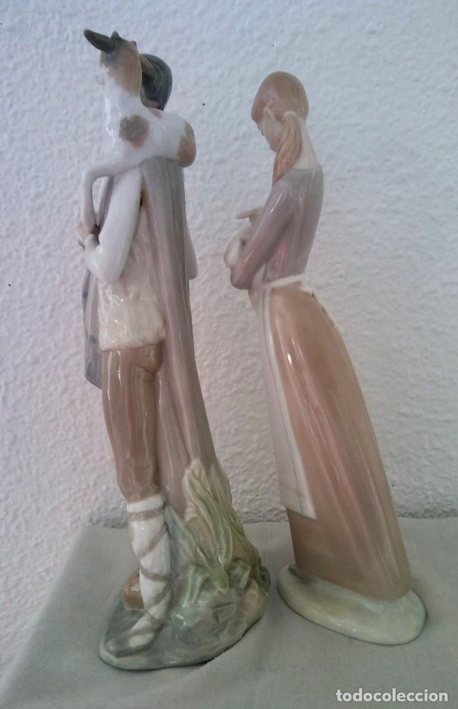 Arte: Lote Figuras porcelana pastores Nao LLadró - Foto 4 - 195088366