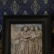 Arte: RELIEVE ÁNGELES CANTORES RÉPLICA DEL SIGLO 15 EN PIEDRA. Lote 195175971