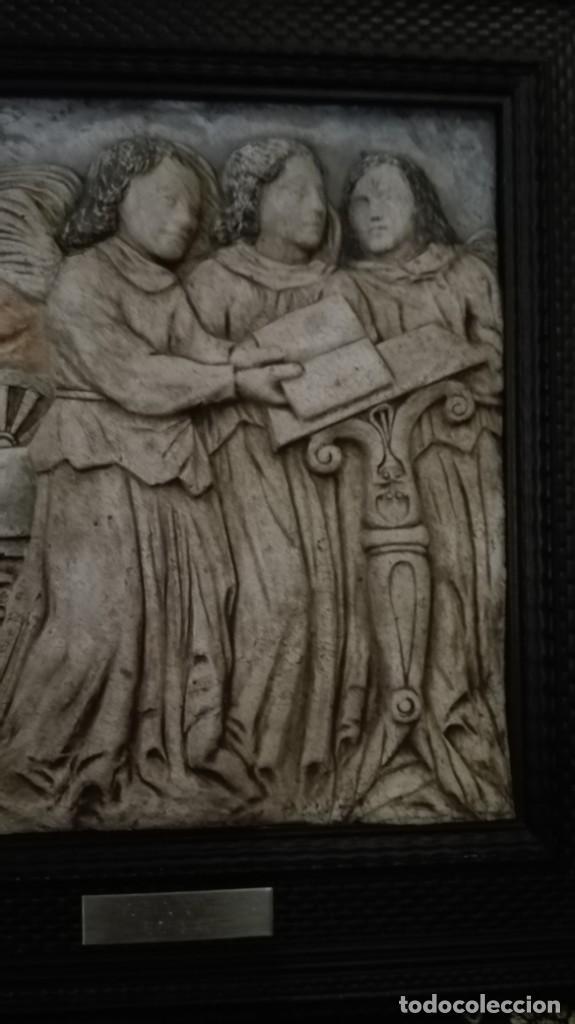 Arte: Relieve Ángeles cantores réplica del siglo 15 en piedra - Foto 2 - 195175971