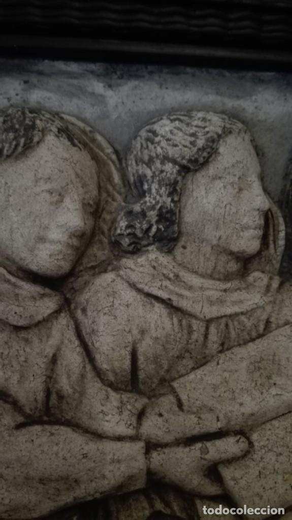 Arte: Relieve Ángeles cantores réplica del siglo 15 en piedra - Foto 3 - 195175971