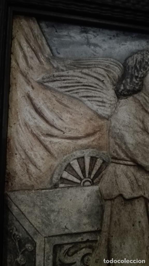 Arte: Relieve Ángeles cantores réplica del siglo 15 en piedra - Foto 4 - 195175971
