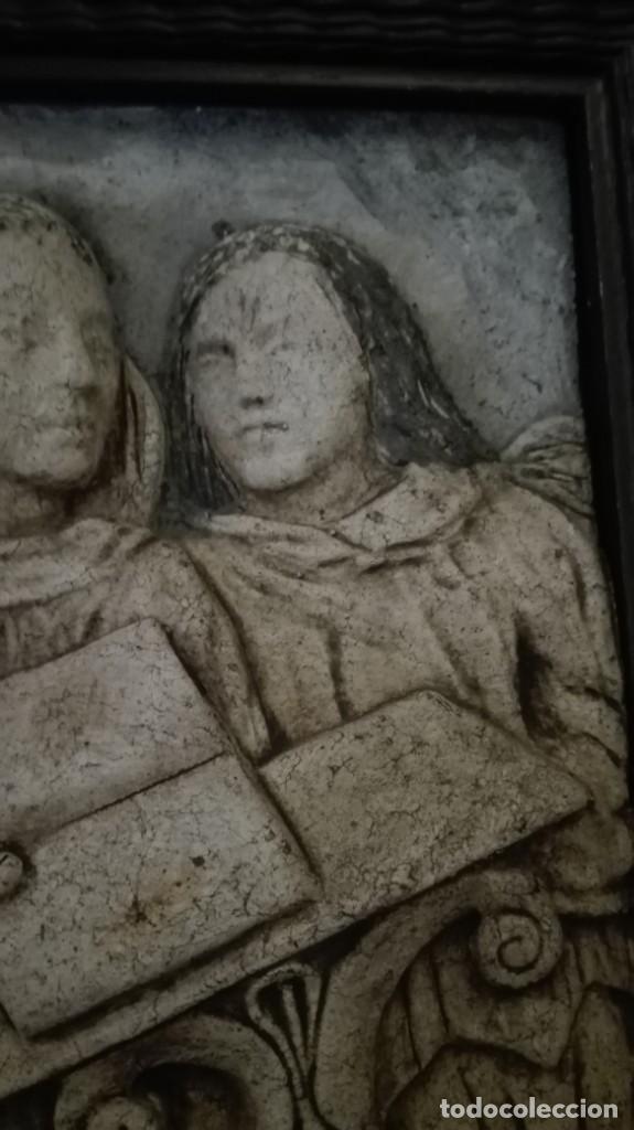 Arte: Relieve Ángeles cantores réplica del siglo 15 en piedra - Foto 5 - 195175971