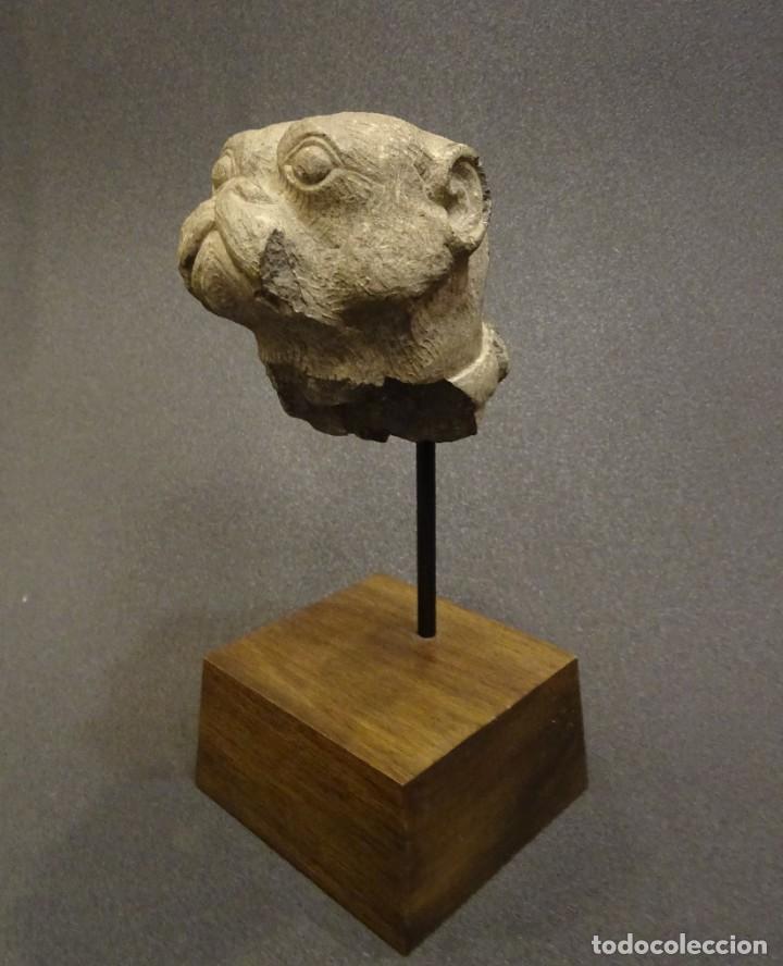 CABEZA DE CARLINO EN PIEDRA S.XVIII, INGLATERRA (Arte - Escultura - Piedra)