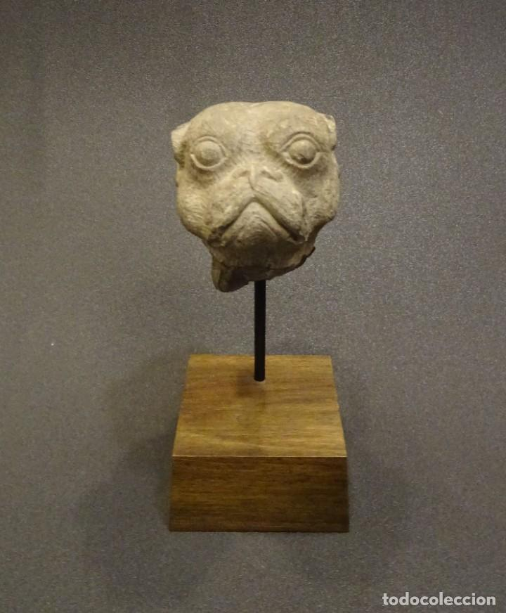 Arte: Cabeza de Carlino en piedra S.XVIII, Inglaterra - Foto 3 - 195188646