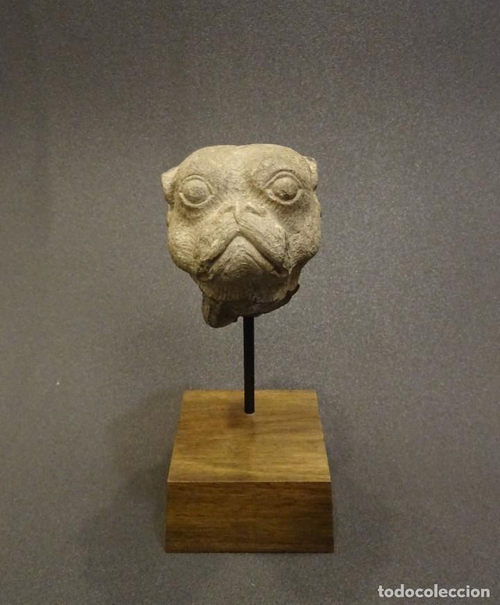 Arte: Cabeza de Carlino en piedra S.XVIII, Inglaterra - Foto 4 - 195188646