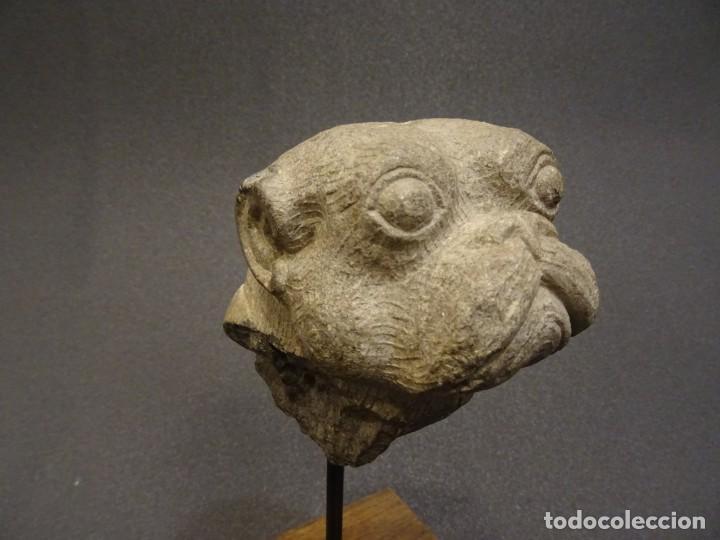 Arte: Cabeza de Carlino en piedra S.XVIII, Inglaterra - Foto 5 - 195188646