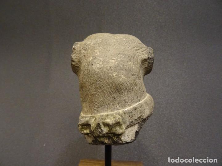 Arte: Cabeza de Carlino en piedra S.XVIII, Inglaterra - Foto 7 - 195188646