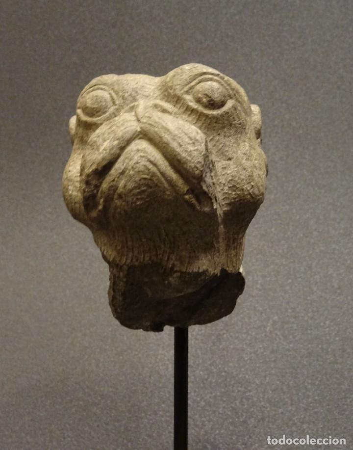 Arte: Cabeza de Carlino en piedra S.XVIII, Inglaterra - Foto 11 - 195188646
