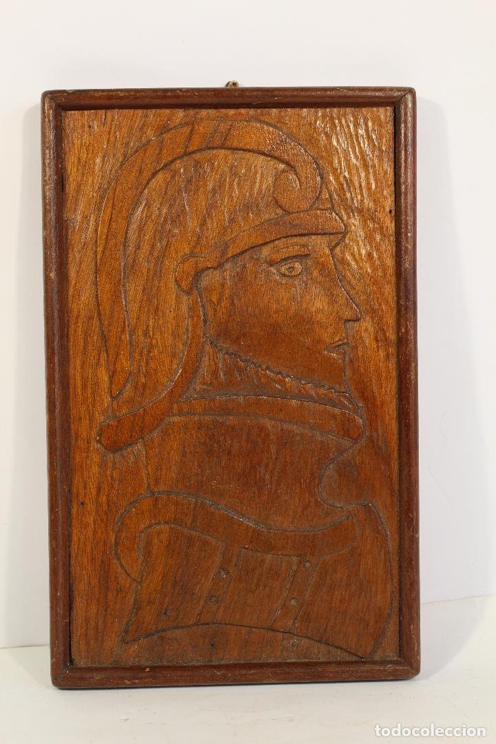 Arte: vasco nuñez de balboa cuadro talla de madera - Foto 2 - 195355641