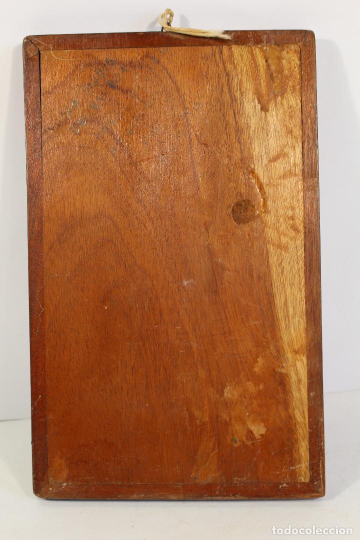 Arte: vasco nuñez de balboa cuadro talla de madera - Foto 4 - 195355641