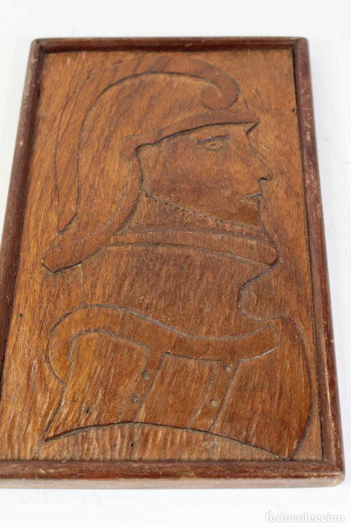 Arte: vasco nuñez de balboa cuadro talla de madera - Foto 5 - 195355641