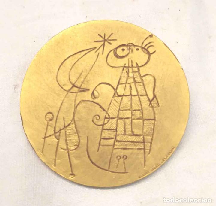 Arte: Joan Miro Medalla Conmemorativa nacimiento diseño F. Calicó del año 1968. Med. 5 cm - Foto 2 - 195359527