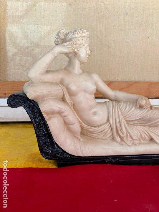 Arte: PRECIOSA VENUS VICTRIX EN TRICLINIO*(Pauline Bonaparte as Venus Victrix) 36x20 cm CAMPOS ORRICO - Foto 2 - 208041297