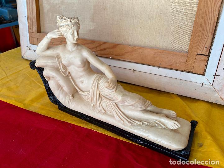 Arte: PRECIOSA VENUS VICTRIX EN TRICLINIO*(Pauline Bonaparte as Venus Victrix) 36x20 cm CAMPOS ORRICO - Foto 3 - 208041297