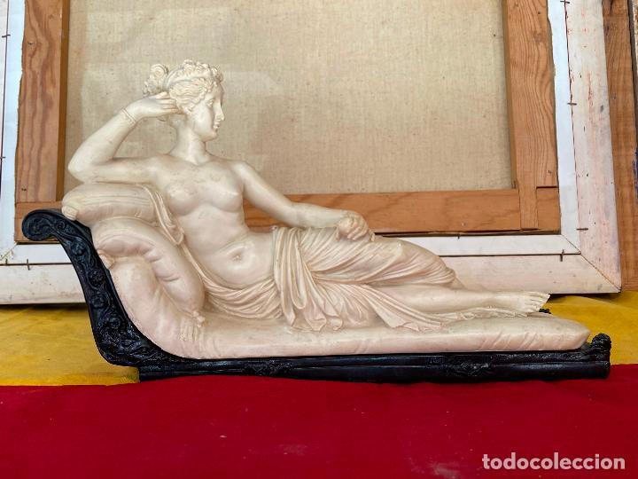 Arte: PRECIOSA VENUS VICTRIX EN TRICLINIO*(Pauline Bonaparte as Venus Victrix) 36x20 cm CAMPOS ORRICO - Foto 4 - 208041297