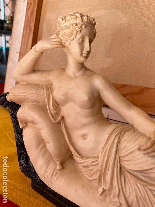 Arte: PRECIOSA VENUS VICTRIX EN TRICLINIO*(Pauline Bonaparte as Venus Victrix) 36x20 cm CAMPOS ORRICO - Foto 5 - 208041297
