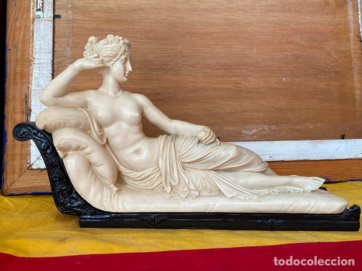 Arte: PRECIOSA VENUS VICTRIX EN TRICLINIO*(Pauline Bonaparte as Venus Victrix) 36x20 cm CAMPOS ORRICO - Foto 6 - 208041297