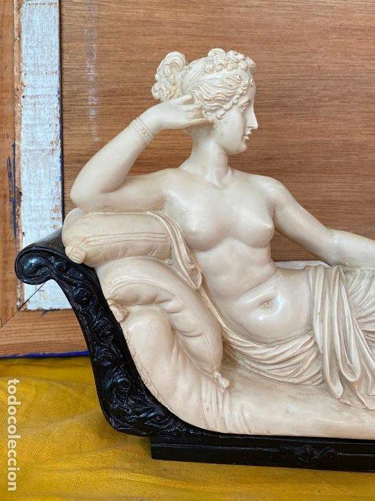 Arte: PRECIOSA VENUS VICTRIX EN TRICLINIO*(Pauline Bonaparte as Venus Victrix) 36x20 cm CAMPOS ORRICO - Foto 7 - 208041297
