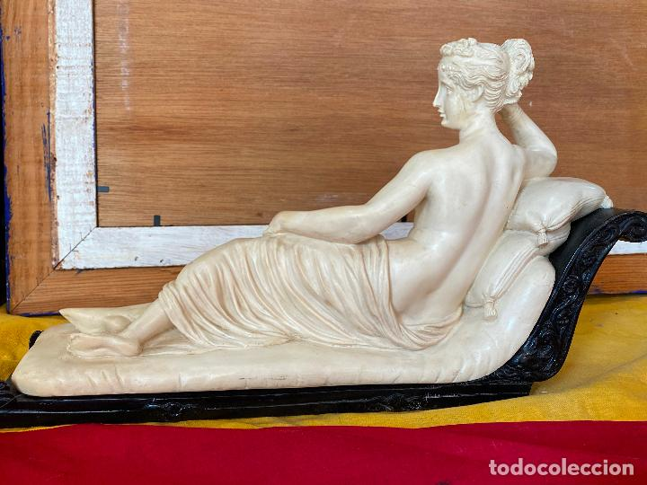 Arte: PRECIOSA VENUS VICTRIX EN TRICLINIO*(Pauline Bonaparte as Venus Victrix) 36x20 cm CAMPOS ORRICO - Foto 11 - 208041297