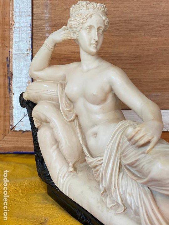 Arte: PRECIOSA VENUS VICTRIX EN TRICLINIO*(Pauline Bonaparte as Venus Victrix) 36x20 cm CAMPOS ORRICO - Foto 12 - 208041297