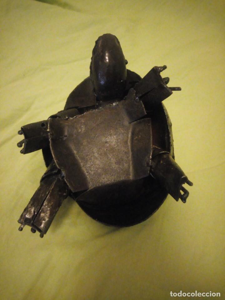 Arte: Bonita tortuga hecha de retales de metal,chapa.balancea la cabeza - Foto 8 - 195932688