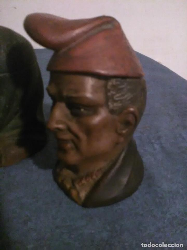 Arte: Pareja de bustos de Catalanes I.Buxo-Olot,originales no copias - Foto 3 - 35234234