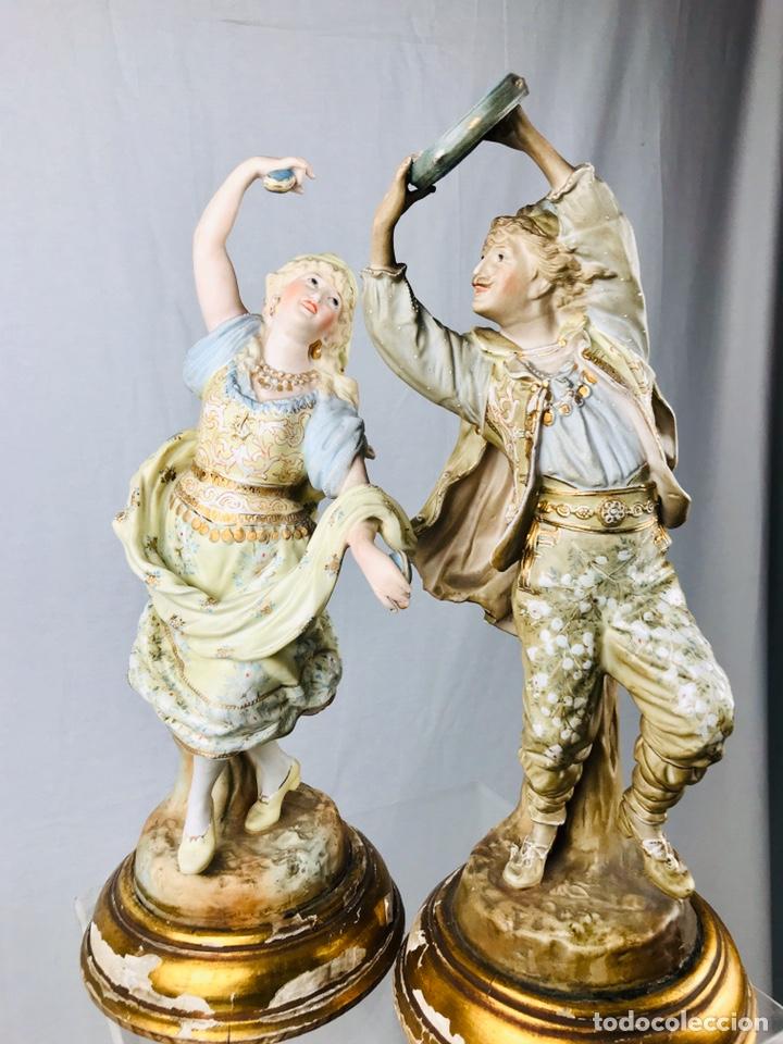 Arte: Pareja de figuras de porcelana. - Foto 2 - 196603186
