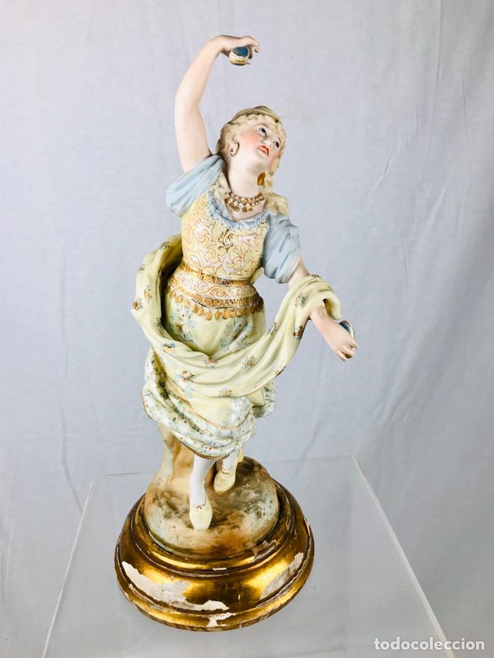 Arte: Pareja de figuras de porcelana. - Foto 3 - 196603186