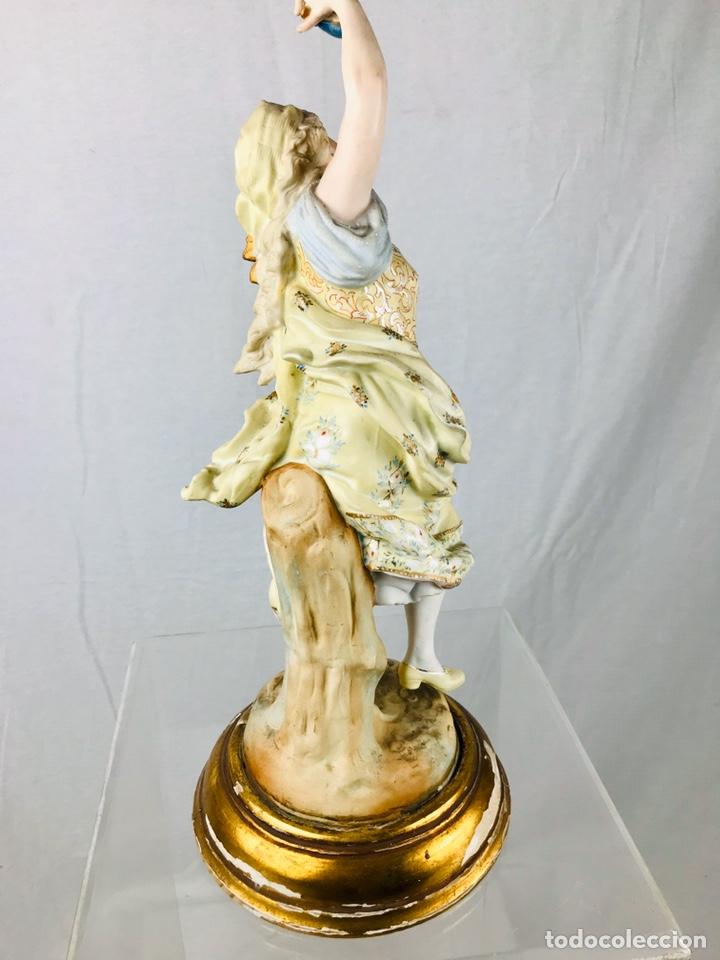 Arte: Pareja de figuras de porcelana. - Foto 5 - 196603186