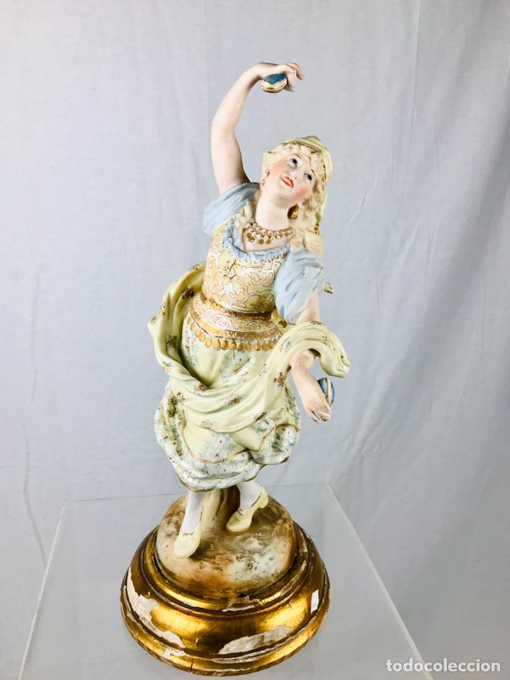 Arte: Pareja de figuras de porcelana. - Foto 10 - 196603186