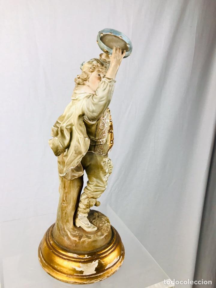 Arte: Pareja de figuras de porcelana. - Foto 12 - 196603186