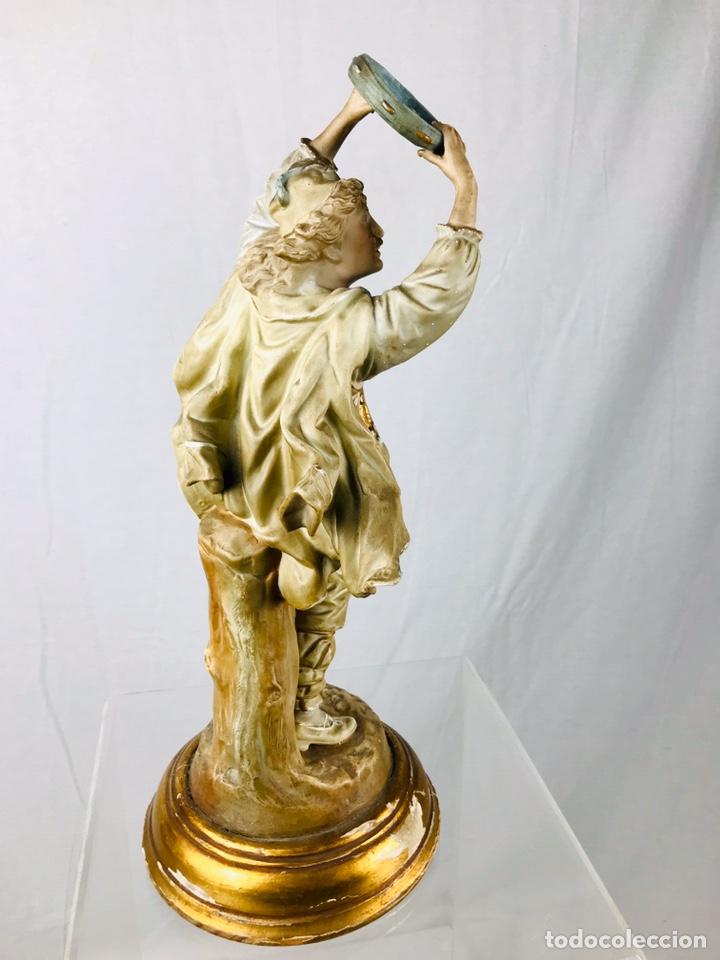 Arte: Pareja de figuras de porcelana. - Foto 13 - 196603186