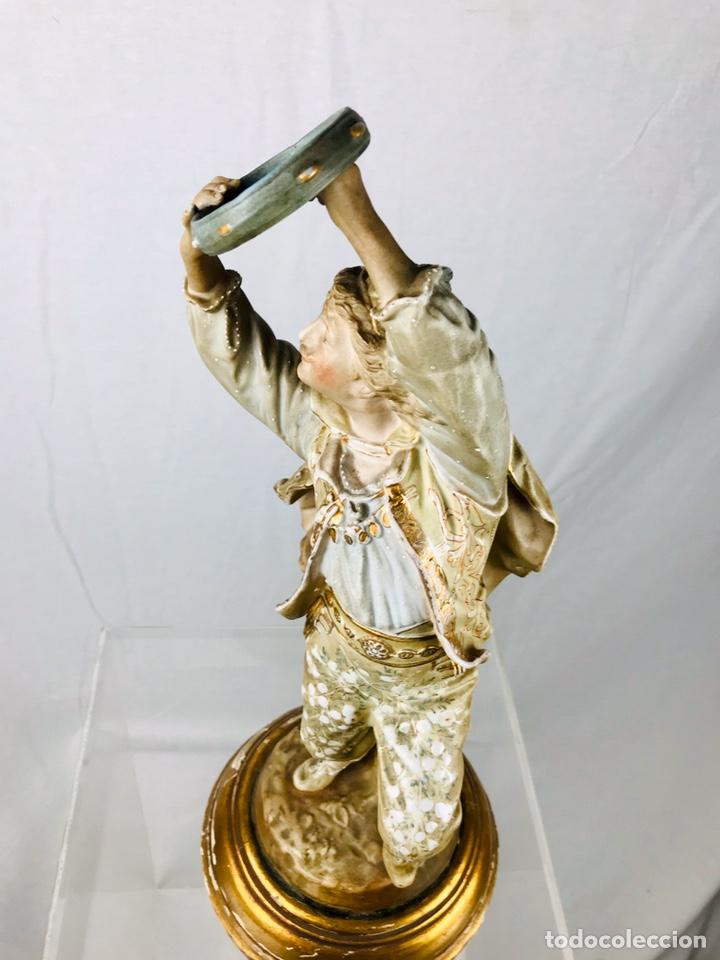 Arte: Pareja de figuras de porcelana. - Foto 18 - 196603186