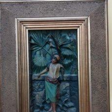 Arte: ALTO RELIEVE DE UNA SEÑORA CUBANA . Lote 196656313