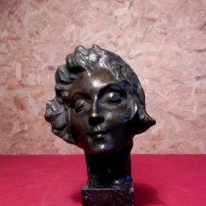 Arte: ESCULTURA DE BRONCE ART DECO - LE REVE DE SERGE ZELINKSON DE BIELORUSIA - 1890 - 1966. Lote 196969465