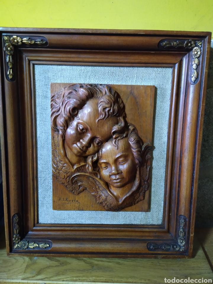 CUADRO J. J. RUEDA (Arte - Escultura - Madera)