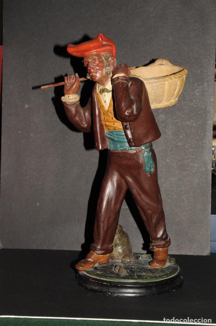 EXTRAORDINARIO PERSONAJE EN TERRACOTA - FIRMADO BUXO - OLOT (FIRMADO EN LA BASE) (Arte - Escultura - Terracota )