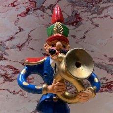 Arte: FIGURA MUSICO CERAMICA BARCELOS FIRMADA M MISTERIO PINTADA MANO BELEN MUSICO CERAMICA PORTUGAL. Lote 199231451