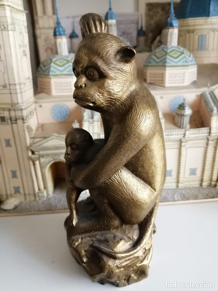 PRECIOSO MONO DE BRONCE (Arte - Escultura - Bronce)