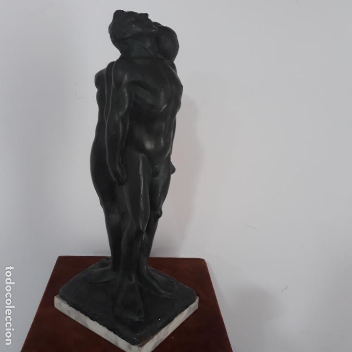 Arte: escultura en resina patinada firmada escuder - Foto 3 - 199446445