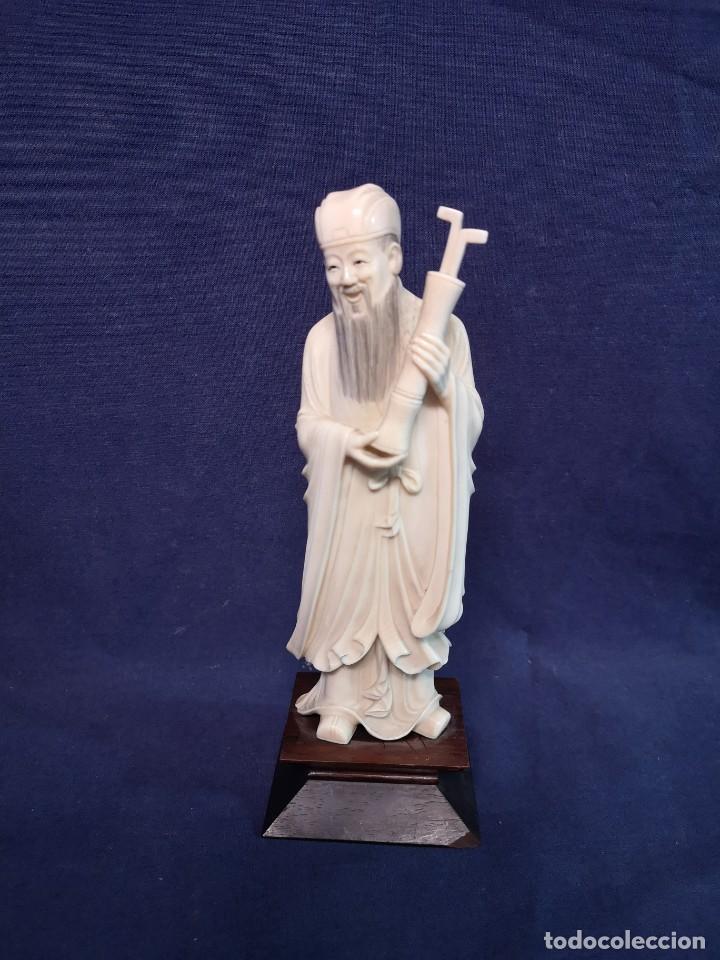 TALLA CHINA (Arte - Escultura - Hueso)