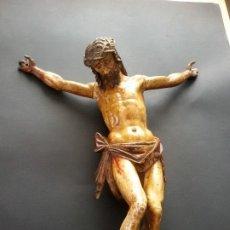 Arte: CRISTO TALLADO EN MADERA ATRIBUIDO A DOMINGO DE LUSSA (1580-1637). Lote 199668166