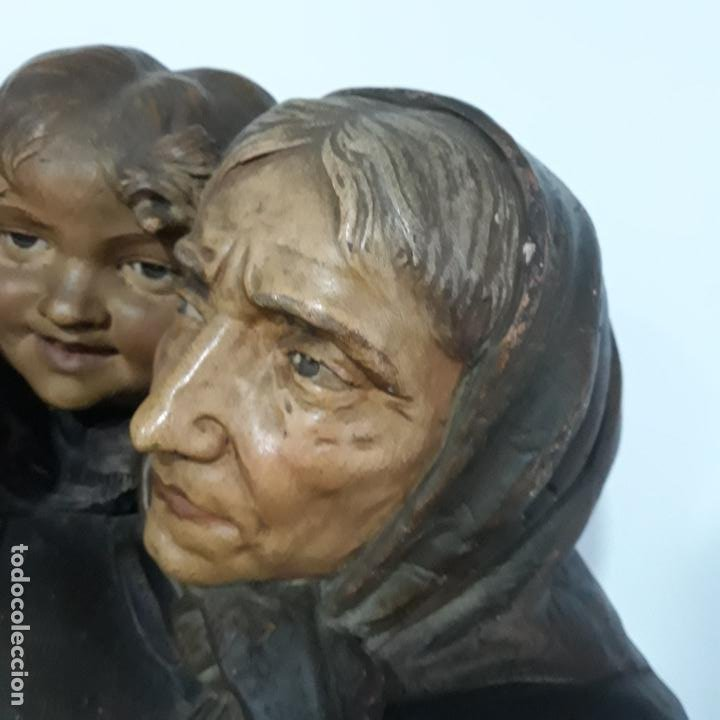 Arte: escultura en terracota policromada ,fin del xix,firmada ezio ceccarelli 1865-1927 - Foto 2 - 199875581